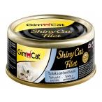 Корм Gimcat ShinyCat Filet с тунцом и анчоусами в бульоне, 70 г