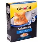 Gimcat лакомство Schnurries, сердечки с лососем и таурином, 420 г
