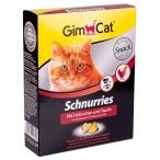 Gimcat лакомство Schnurries, сердечки с курицей и таурином, 420 г