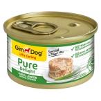 Корм Gimdog Little Darling Pure Delight с цыпленком и ягненком в желе, 85 г