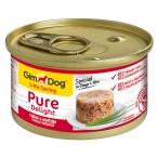 Корм Gimdog Little Darling Pure Delight с тунцом и говядиной в желе, 85 г