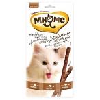 Мнямс лакомые палочки для кошек, с индейкой и ягненком, 13.5 см, 3 шт х 5 г