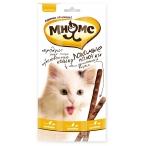Мнямс лакомые палочки для кошек, с цыпленком и печенью, 13.5 см, 3 шт х 5 г