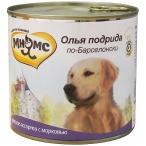 Корм Мнямс Олья Подрида по-Барселонски (консерв.) для собак, мясное ассорти с морковью, 600 г