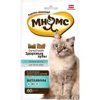 Мнямс Здоровые зубы хрустящие подушечки для кошек, для чистки зубов, 60 г