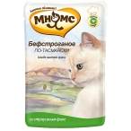 Корм Мнямс Бефстроганов по-тасмански (консерв.) для кошек, с мясом страуса, 85 г