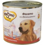 Корм Мнямс Фегато по-Венециански (консерв.) для собак, телячья печень с пряностями, 600 г