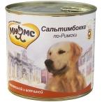 Корм Мнямс Сальтимбокка по-Римски (консерв.) для собак, телятина с ветчиной, 600 г