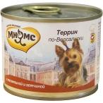 Корм Мнямс Террин по-Версальски (консерв.) для собак, телятина с ветчиной, 200 г