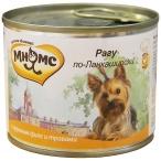 Корм Мнямс Рагу по-Ланкаширски (консерв.) для собак, куриное филе с травами, 200 г
