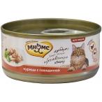 Корм Мнямс (в желе) для кошек, курица с говядиной, 70 г