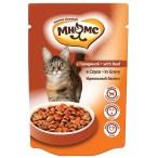 Корм Мнямс Идеальный баланс (в соусе) для кошек, с говядиной, 100 г