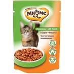 Корм Мнямс Чувствительное пищеварение (в соусе) для кошек, с кроликом, 100 г