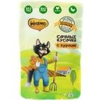 Корм Мнямс Фермерская ярмарка (консерв.) для кошек, с курицей, 85г