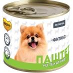 Мнямс Фитнес (паштет) для собак, с телятиной, 200 г