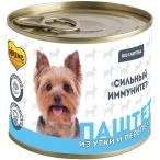 Корм Мнямс Сильный иммунитет (паштет) для собак, с уткой и перепелом, 200 г
