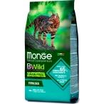 Корм Monge BWild Sterilised Tuna & Peas (беззерновой) для стерилизованных кошек, тунец и горох, 1.5 кг