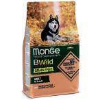 Корм Monge BWild Salmon & Peas (беззерновой) для собак, лосось и горох, 12 кг
