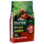 Корм Monge BWild Lamb, Potatoes & Peas (беззерновой) для собак, ягненок, картофель и горох, 2.5 кг