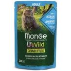 Корм Monge Cat BWild GRAIN FREE (консерв.) для кошек, анчоусы с овощами, 85г