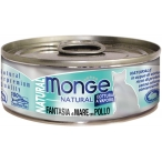 Корм Monge Natural (консерв.) для кошек, морепродукты с курицей, 80 г