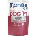 Корм Monge Grill Pouch Beef (консерв.) для собак, с говядиной, 100 г