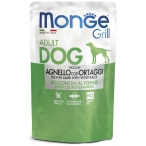 Корм Monge Grill Pouch Lamb & Vegetables (консерв.) для собак, ягненок с овощами, 100 г