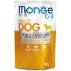 Корм Monge Grill Pouch Chicken & Turkey (консерв.) для щенков, курица и индейка, 100 г