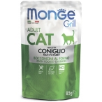 Корм Monge Grill Pouch Rabbit (консерв.) для кошек, с итальянским кроликом, 85 г