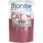 Корм Monge Grill Pouch Sterilised Veal (консерв.) для стерилизованных кошек, с итальянской телятиной, 85 г