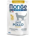 Корм Monge Monoprotein Sterilised Chicken (консерв.) для стерилизованных кошек, с курицей, 85 г