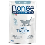 Корм Monge Monoprotein Kitten Trout (консерв.) для кошек, с форелью, 85 г