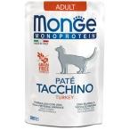 Корм Monge Monoprotein Turkey (консерв.) для кошек, с индейкой, 85 г
