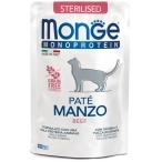Корм Monge Monoprotein Sterilised Beef (консерв.) для стерилизованных кошек, с говядиной, 85 г