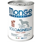 Корм Monge Monoprotein Solo Lamb (паштет) для собак, с ягненком, 400 г
