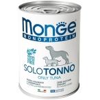 Корм Monge Monoprotein Solo Tuna (паштет) для собак, с тунцом, 400 г