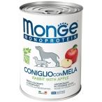 Корм Monge Monoprotein Rabbit & Apple (паштет) для собак, кролик с яблоками, 400 г