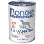 Корм Monge Monoprotein Solo Duck (паштет) для собак, с уткой, 400 г