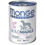 Корм Monge Monoprotein Solo Pork (паштет) для собак, со свининой, 400 г