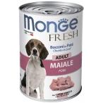 Корм Monge Fresh Chunks in Loaf Pork (консерв.) для собак, мясной рулет со свининой, 400 г