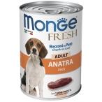 Корм Monge Chunks in Loaf Duck (консерв.) для собак, мясной рулет из утки, 400 г