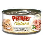 Корм Petreet консервы для кошек куриная грудка с тунцом, 70 г