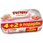Корм Petreet Multipack кусочки розового тунца 6 шт/70 г, 420 г
