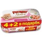 Корм Petreet Multipack кусочки розового тунца с креветками 6 шт/70 г, 420 г