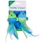 """Feline Clean (Aromadog) игрушка для кошек """"Рыбка"""", лента и перья, 2 шт"""