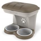 Bama Pet миска для собак настенная двойная, 1600 мл, бежевая