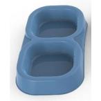 Bama Pet миска пластиковая двойная, 154 мл, голубая