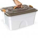 Bama Pet контейнер для хранения корма SIM PET, 18 л, бежевый