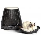 Bama Pet домик для кошек Pasha, с подушками, коричневый