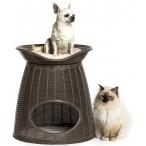 Bama Pet домик для кошек Pasha, с подушками, светло-коричневый/бежевый